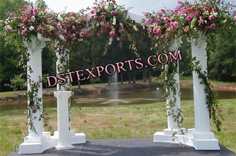 Wedding Out Door Decoration With Fiber Pillars