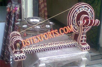 Punjabi Wedding Culture Decorated Charkha
