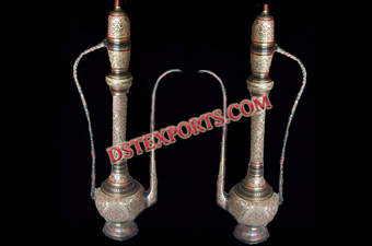 Indian Wedding Decorated Metal Surahis