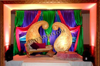 Wedding Fiber Mango Panels Stage Decoration
