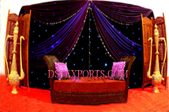 Wedding Stage Decors Metal Golden Surahis