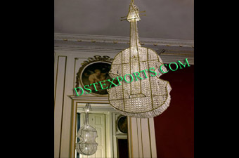 Wedding Hanging Crystal Guitar For Decoration