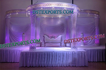 Latest Indian Wedding Crystal Mandap