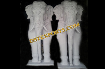 Wedding Welcome Gate White Elephant Statues