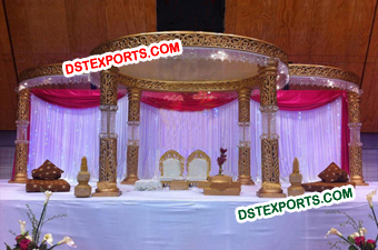 Bollywood Wedding Crystal Mandap Set