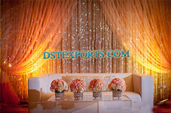 Wedding Stage Crystal Backdrop