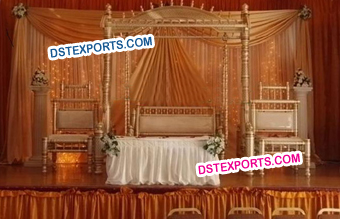 Indian Wedding Reception Stage Swing Set