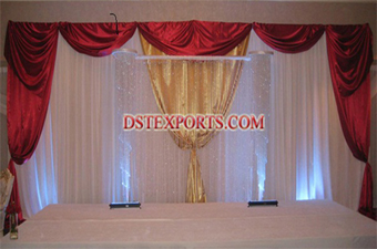 Hanging Crystal Pillars For wedding stage decors