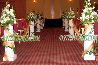 Wedding White Roman Columns