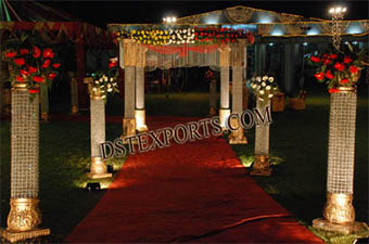 Indian Wedding Crystal Small Pillars