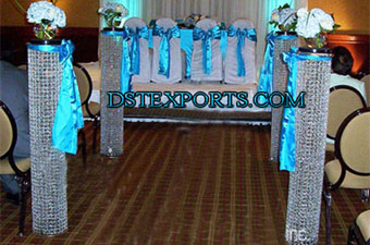 Newly Wedding Aisleway Crystal Pillars
