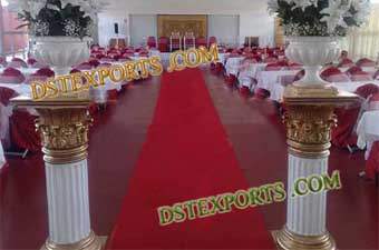 Wedding Aisleway Roman Pillars With Flower Pot
