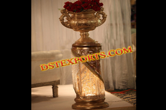 Wedding Decoration Crystal Pillar With Flower Pot
