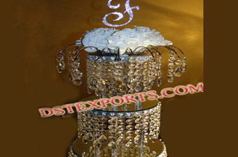Wedding Crystal Cake Stand Shape Center Piece