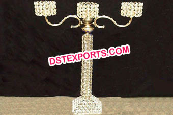 Wedding Golden Crystal Candelabra