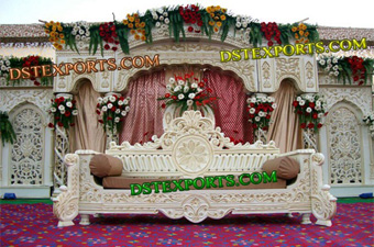 Muslim Wedding Fiber Backdrop Royal Stage