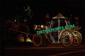 Lighted Cinderalla Horse Carriage