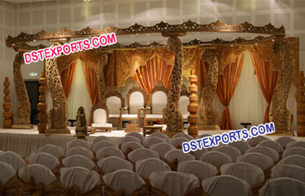 New Design Wooden Wedding Mandap
