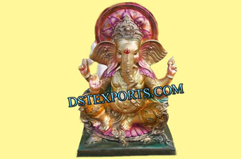 Decorated Ganesha Fiber Statue