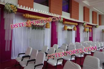 Indian Wedding Hanging Decorated Pillars