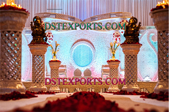 Indian Wedding Golden Butterfly Mandap