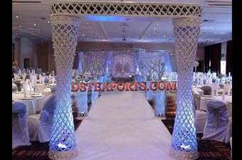 Wedding Crystal Pilllars Gate