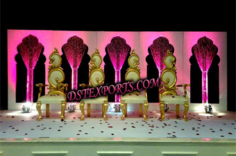 Wedding Stage With Beautiful Leaf Chair