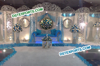 Asian Wedding Crystal Stage Decoration