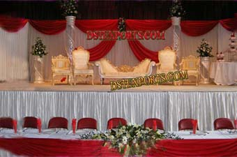 Stylish Mughal Wedding Stage Set