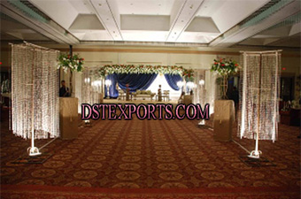 New Wedding Aisleyway Hanging Crystal Pillars