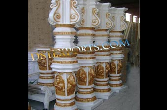 Wedding White Golden Dev Pillars