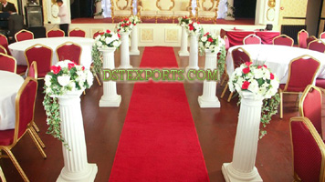Latest Wedding Aisleway Fiber Roman Pillars