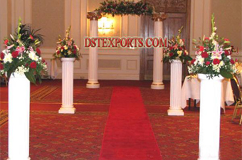 Newly Wedding Fiber Roman Pillars