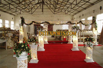 Wedding Crystal Lighting Fiber Pillar