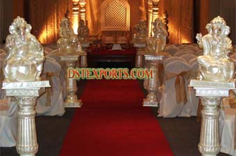 Wedding Beautiful Aisleyway Ganesha Pillars Set