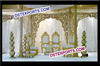Wedding Wooden Carved Fiber Backdrops