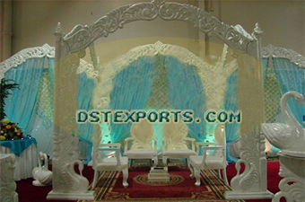 Indian Wedding Carved Peacock Mandap