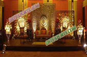 Wedding Golden Fiber Carved Panels For Stage