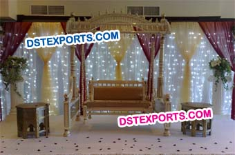 Wedding Stage Royal Crown Swing