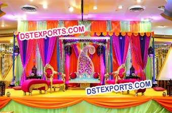 Wedding Mehndi Stage Decoration