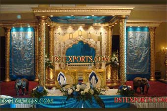 Indian Wedding Gold Fiber Mandap