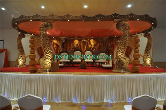 Latest Wedding Round Wooden Mandap