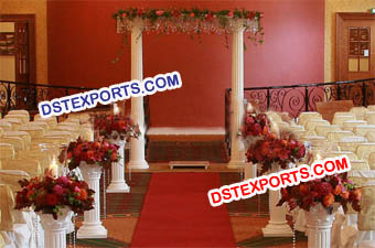 Wedding Roman Pillars With Crystal Decors