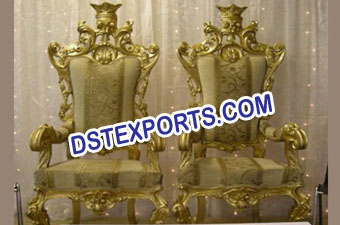 Latest Asian Wedding King Chairs Set