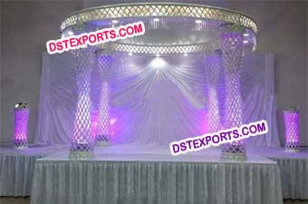 New Wedding Round Fiber Crystal Mandap