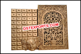 Indian Wedding Fiber Carved Backdrop Panels Frame