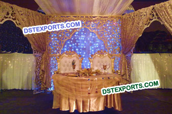 Indian Wedding Stage Fiber Backdrop Frame