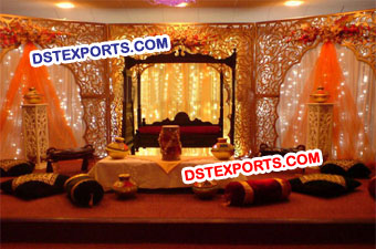 Asian Wedding Stage Fiber Backdrop Panels Stage