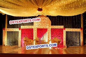 Wedding Stage Carved Backdrop Screen