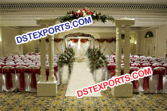 Fiber Double Pillars Wedding Welcome Gate